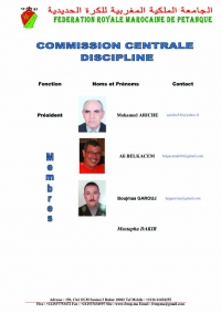 COMMISSION CENTRALE  DE DISCIPLINE